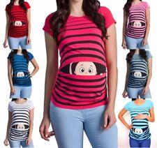 Umstandsmode T-Shirt mit Motiv Lustig Schwangerschaftsmode Mutterschaft Kurzarm