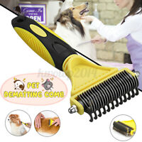 Pet Dog Cat Dematting Grooming Deshedding Trimmer Tools Hair Fur Comb Brush