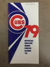 Chicago Cubs Baseball Vintage Sports Media Guides