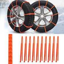10PCS Winter Anti-skid Chains for Car Snow Wheel Tyre Tire Thickened Tendon