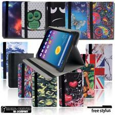 "Folio Leather Rotating Stand Cover Case For 7"" 8"" Alcatel OneTouch Tablet"