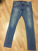 RIPPED Men Diesel THAVAR STRETCH Denim 0842H BLUE SLIM W33 L34 H6 RRP£150