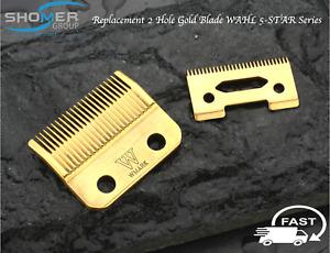 Wahl Super Tapper Replacement Blade Set Gold 2 Hole Senior Super Taper Magic
