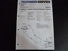 Original Service Manual  Telefunken Radio Digitale 25