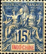 Indo - China - 1892/96 - Papier Teinté