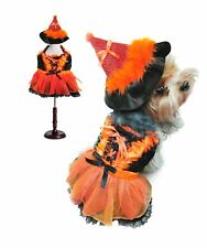 High Quality Dog Costume - ORANGE AND BLACK WITCH COSTUMES - LED Light Witches