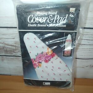 Pressing Supply Ironing Board Cover And Pad Elastic Bound 100% Cotton Floral