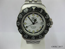 Gents Tag Heuer Formula One F1 Stainless Steel Bracelet White Dial WA1216   #995