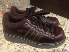 SKECHERS Leather Upper Shoes, Brown, SN45952, Woman's Size 10