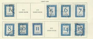NETHERLANDS - 1947-1956 POSTAGE DUE USED STAMPS