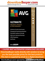 AVG Ultimate 2021 with AntiTrack - 3 Devices - 1 Year [Download]