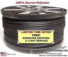 """1000' 3/16"""" Dacron Polyester Rope, Doomsday Prepper Dipole Antenna, Ginpole, Guy"""