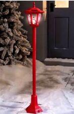 Led Solar Snowman Lamp Post Christmas Garden Decoration LED Lights 105cm