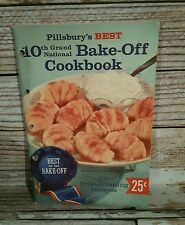 Pillsbury Best 10th Grand National  Bake Off Cookbook 1958 Vintage Recipes