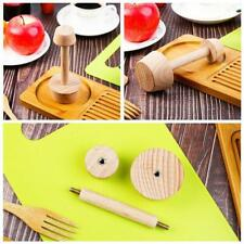 Egg Tart-Tamper Double Side Wooden Pastry Pusher DIY Baking Shaping U5J6 F4X5