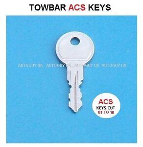 WITTER TOWBAR KEY CUT TO CODE  ( ACS01 TO ACS10 ) TOWBAR LOCK KEYS