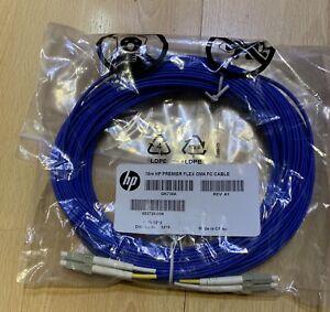 QK735A HP Premier FLEX OM4 15m LC-LC duplex FC Cable 653728-004 Factory Sealed.