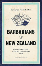 Barbarians v New Zealand 27 Jan 1973 RUGBY PROG Cardiff Arms Park GOOD CONDITION