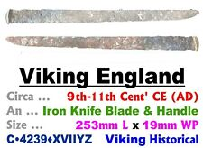 Artifact • Viking England • Knife Blade & Handle • 9th-11th Cent Ce • C•4239•