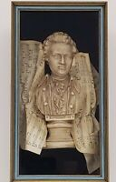 "Edward Art Products Bust- Style #1063- Beethoven Mozart- 10""x18"" Shadow Box"