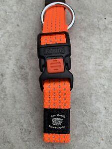 Karlie Plus Sport Activ Medium Adjustable Orange Dog Collar 40-55 20mm
