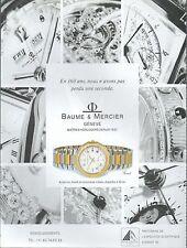 ▬► PUBLICITE ADVERTISING AD WATCH MONTRE BAUME & MERCIER 1993