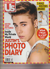 Us WEEKLY MAGAZINE JUSTIN PHOTO DIARY, JUSTIN BIEBER Collecto W/ 3 HUGE POSTERS.