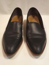 Everlane Womens Shoes Black Almond Toe Italian Leather Loafers Slip On size 11