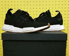 NEW Men's Adidas NMD R1 Primeknit Gum Pack Black Sz 9.5 BY1887 Ultraboost PK