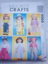 "McCall's Sewing Pattern #4066 - 18"" Doll clothes"