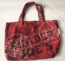 Trader Joes Original Cloth Reusable Shopping Bag Red Tote