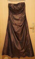 Hochwertiges langes Abend Kleid, Gr. 46 trägerlos mit Bolero Jäckchen.