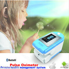 Bluetooth 4.0 OLED fingertip Pulse Oximeter Spo2 PR Monitor  pedometer calorie