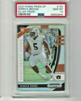 2020 Prizm Draft Picks Derrick Brown Rookie Silver Panthers  PSA 10