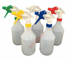 5 X Trigger Spray Bottles 750ml Valeting Hydroponics Chemical Resistant Heads