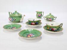Antique Derby Porcelain Miniature Doll House Tea Set - English Miniature PC