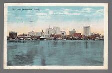 [50914] 1928 POSTCARD THE SKY LINE OF JACKSONVILLE, FLORIDA