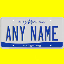 License plate, golf cart, mobility scooter - Michigan design, custom, any name