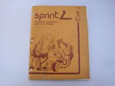 Notice d'origine pour Borne arcade PCB Sprint 2 Atari - Instruction Manual