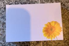 Yellow Gerbera Florist Message Cards x 50 Brand New