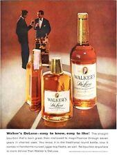 1959 Walker's PRINT AD DeLuxe Great Vintage Decor features two men, bottles
