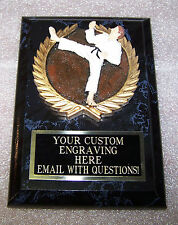 Karate Trophy Award Plaque Free Engraving Gift Box Shipped Two Day Mail