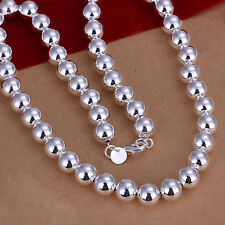 Wholesale 925Sterling Silver Cool 10MM Large Same Buddha Beads Necklace N097