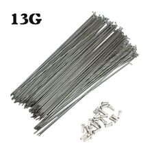 Bike Spokes 13G 2.2mm J-bend 82-305mm Spoke Nipples Length 12MM Bicycle Parts