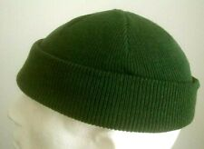 New Mens Army Style Olive COMMANDO Watch Cap Beanie EXTRA SHORT Army olive green