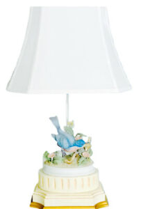 Large Andrea by Sadek Porcelain Bisque Dove Lamp