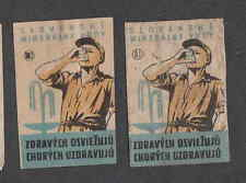 Ancienne étiquettes Allumettes Tchécoslovaquie  NN119 Eau Minérale