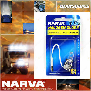 Narva H3 Halogen Globe 12V 100W Pk22S 48351BL Blister Pack for Mercedes benz