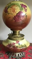 ANTIQUE - FOSTORIA - GONE WITH THE WIND PARLOR LAMP HAND-PAINTED