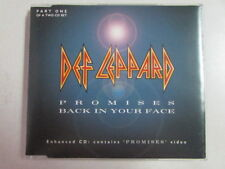 DEF LEPPARD PROMISES (VIDEO), BACK IN YOUR FACE ALBUM SNIPPETS UK CD SINGLE OOP